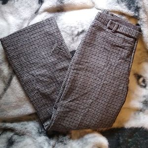 Wool Plaid Trousers Lined GAP